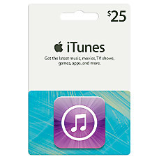 iTunes 25 Gift Card iTunes Icon