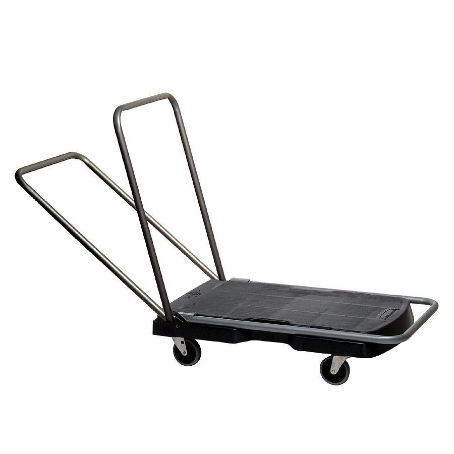 rubbermaid triple trolley utility cart 20 12 w x 32 12 d black by office depot u0026 officemax - Rubbermaid Utility Cart
