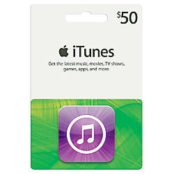 Itunes 50 Gift Card Itunes Icon By Office Depot Amp Officemax