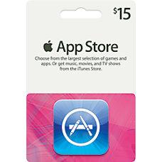 iTunes 15 Gift Card iTunes App