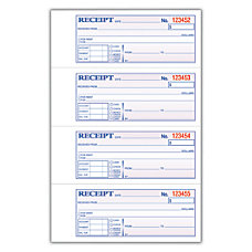 Adams Carbonless 3 Part MoneyRent Receipt
