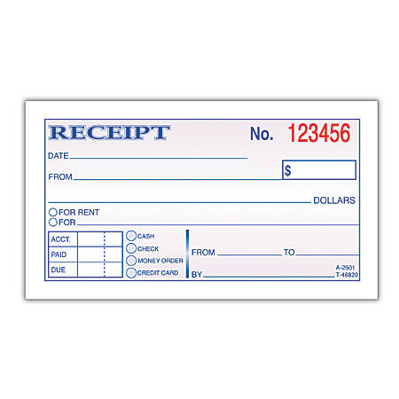 Samples Of Receipts Form Receipt Template – Sample of Receipt Book