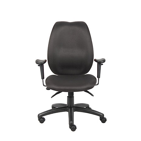 Boss Fabric High Back Task Chair Black By Office Depot OfficeMax