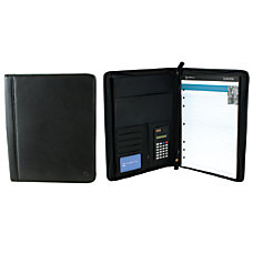 Office Depot Brand Leather Padfolio Black