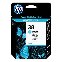 HP 38 Light Cyan Original Ink