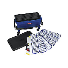Rubbermaid Microfiber Floor Finishing Kit BlackBlueWhite