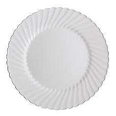 Classicware Plates Plastic 1025 inches White