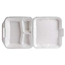 Genpak Foam Hinged Container 3 Compartment