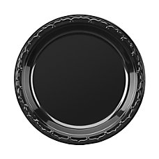 Genpak Silhouette Black Plastic Plates 10