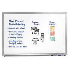 FORAY Aluminum Framed Dry Erase Board