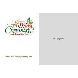 Photo Greeting Card Horizontal Merry Christmas