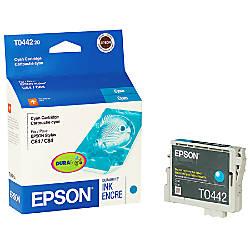Epson T0442 T044220 DuraBrite Cyan Ink