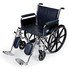 Medline Extra Wide Wheelchair Elevating 20