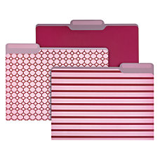 Divoga Metallic Fashion File Folders Letter