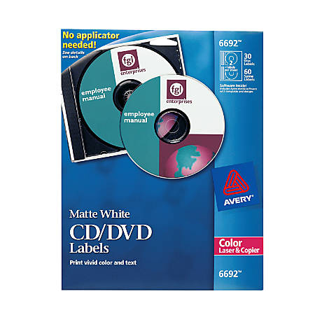 avery color laser cddvd labels pack