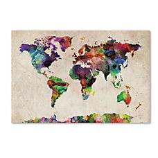 Trademark Global Urban Watercolor World Map