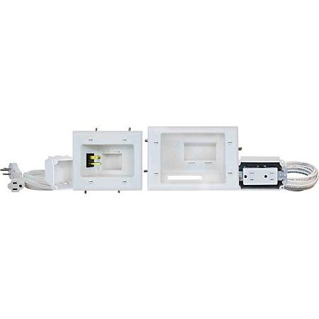 datacomm flat panel tv cable organizer kit with duplex