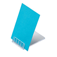 Deflecto Acrylic VerticalHorizontal Mini Sign Holder