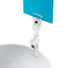 Deflecto VersaGrip Sign Holder Clip Clear