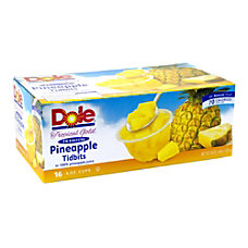 Dole Pineapple Tidbit Bowls 4 Oz