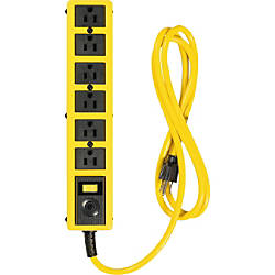 Woods 6 Outlet 6 Metal Yellow