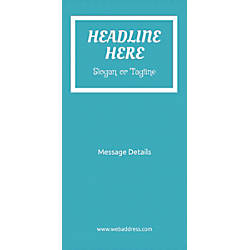 Custom Vertical Banner Teal Pattern