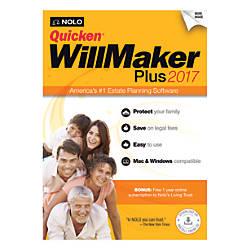 Quicken WillMaker Plus 2017 Traditional Disc