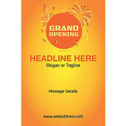 Custom Vertical Poster Grand Opening
