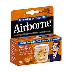 Airborne Tablets Orange Pack Of 10