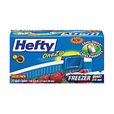 Hefty OneZip Storage Bags 1 Quart