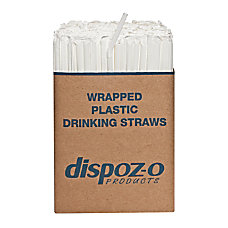 Dispozo Flex Straws 7 34 Translucent