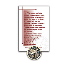 Compass Lapel Pin 58 Antiqued Gold