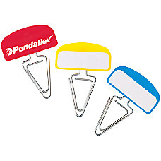 Pendaflex PileSmart Label Clips Assorted Primary