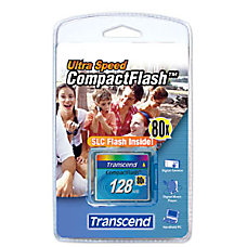 Transcend 128MB CompactFlash Card 80x