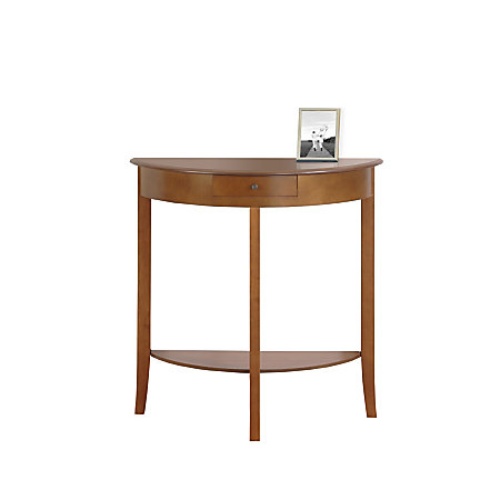 monarch specialties console table 32 h x 31 w x 12 d oak