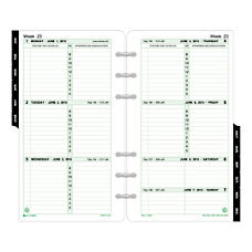 Day Timer Original Weekly Planner Refill