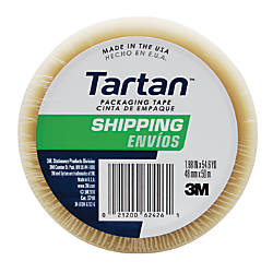 "3M™ Tartan™ General Purpose Packing Tape, 3"" Core, 2"" x 55 Yd., Clear"
