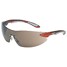 IGNITE REDSILVER FRAMESAFETY GLASSES GRAY LENS