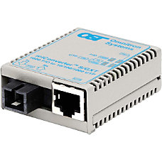 miConverterS 101001000 Gigabit Ethernet Single Fiber
