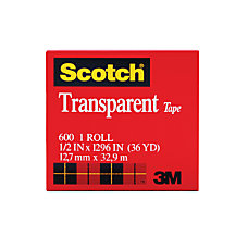 Scotch Transparent Tape 1 Core 12