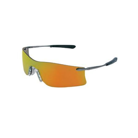 Frameless Safety Glasses : Crews Rubicon Frameless Safety Glasses Silver Metal ...