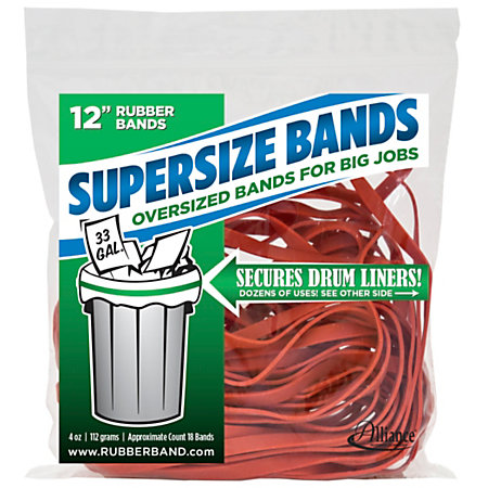 Alliance Supersize Bands 12 X 14 Red Bag Of 18 By Office