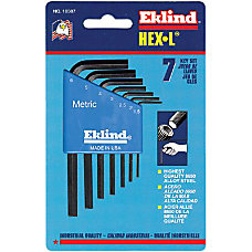 Eklind 9 Piece L Wrench Hex