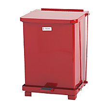 Rubbermaid Commercial Defenders Biohazard Step Can
