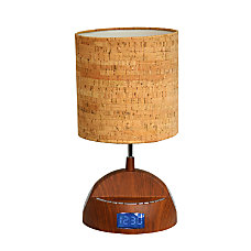 LighTunes Wood Grain Bluetooth Speaker Table