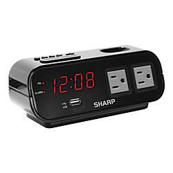 Sharp Digital Alarm Clock With USB
