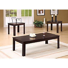 Monarch Specialties 3 Piece Table Set