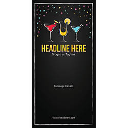 Custom Vertical Banner Cocktail Party