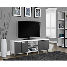 Monarch Specialties 2 Tone TV Stand