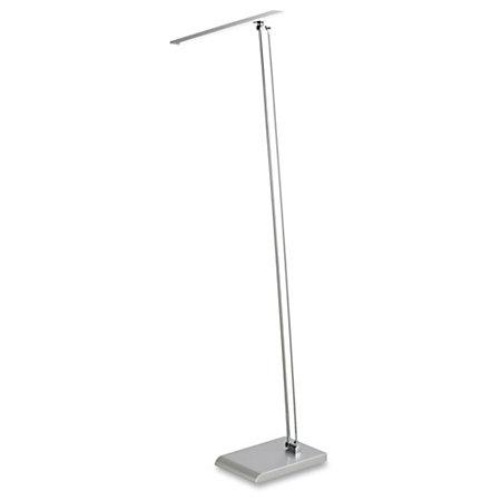 Safco led light floor lamp led 480 lumens silver floor for Led floor lamps for office